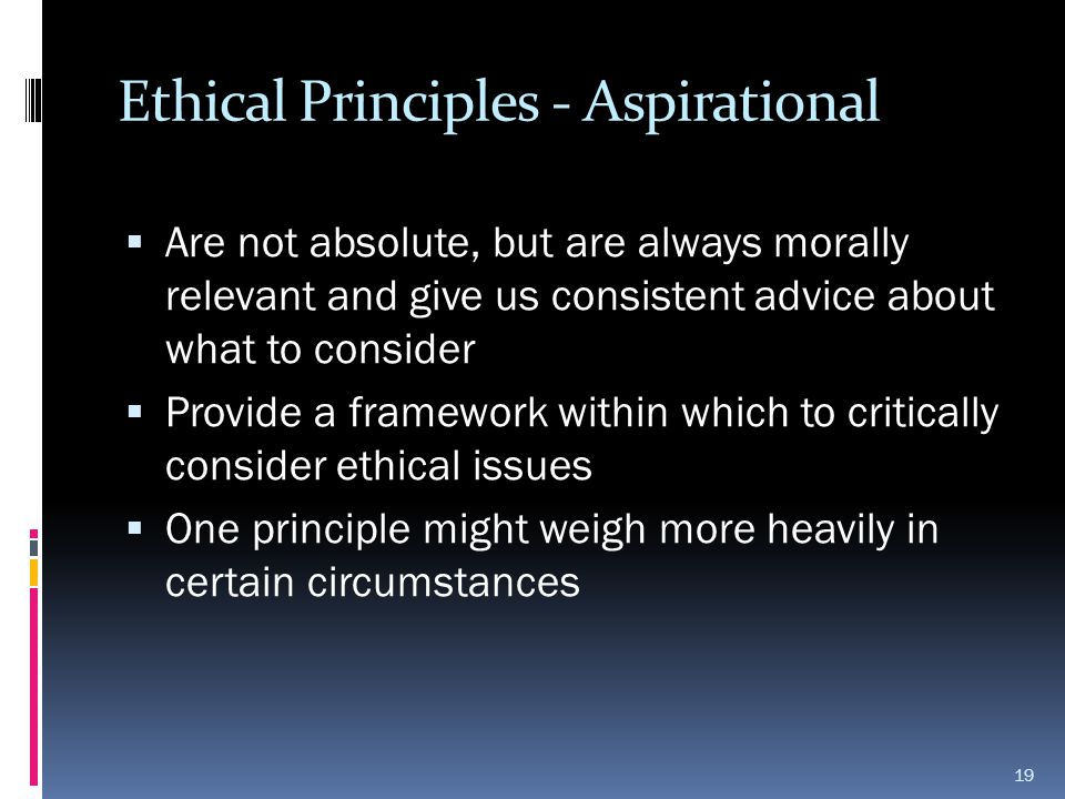 Ethical Principles - Aspirational