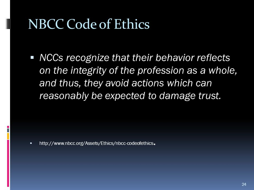 NBCC Code of Ethics