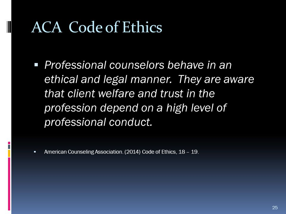 ACA Code of Ethics