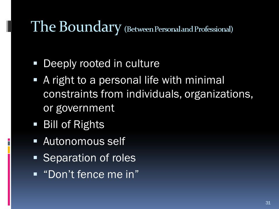 The Boundary (Between Personal and Professional)