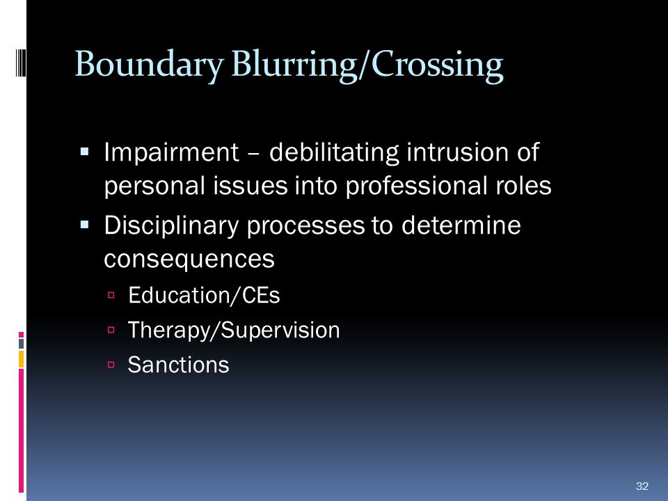 Boundary Blurring/Crossing