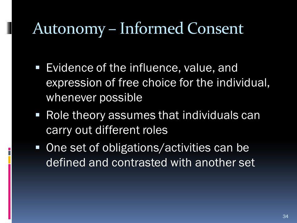 Autonomy – Informed Consent