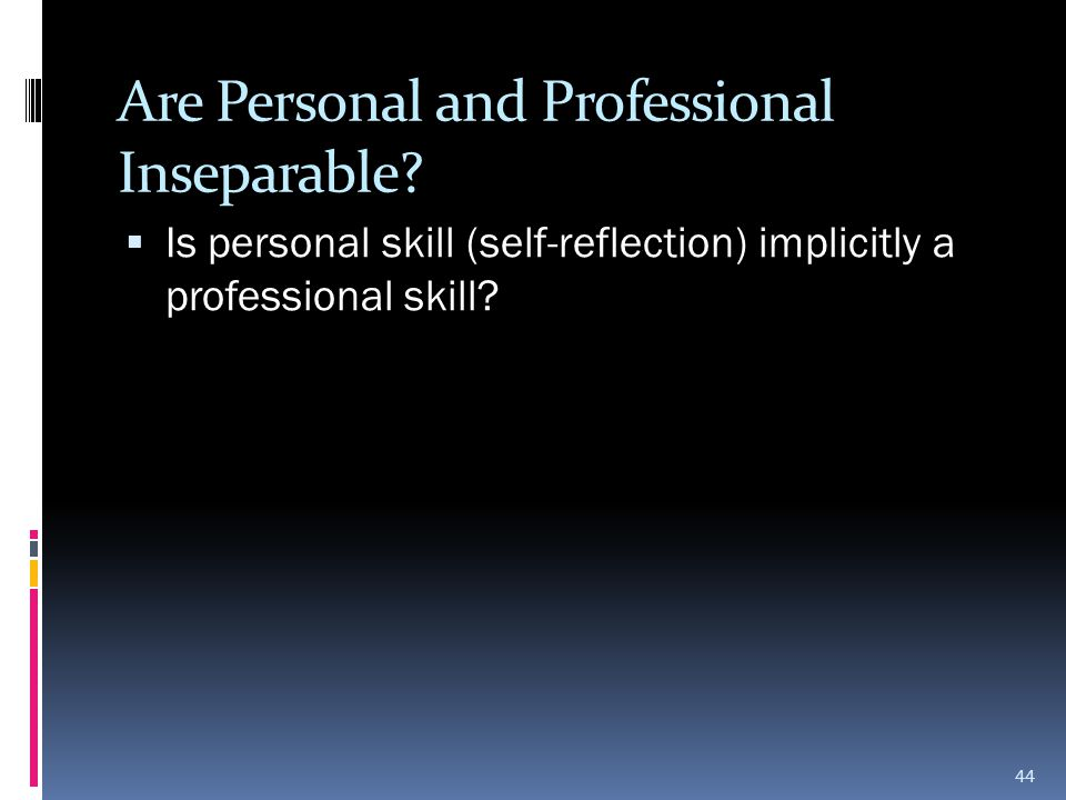 Are Personal and Professional Inseparable