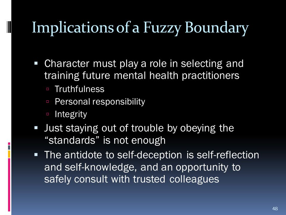 Implications of a Fuzzy Boundary