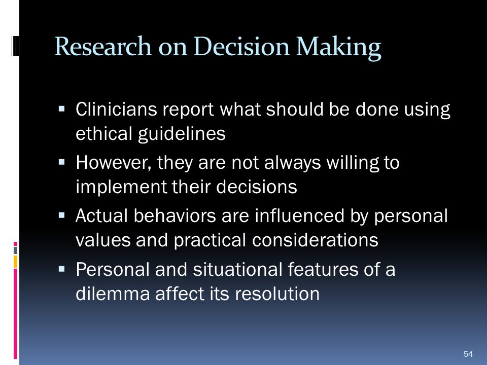Research on Decision Making