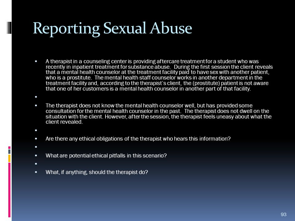 Reporting Sexual Abuse