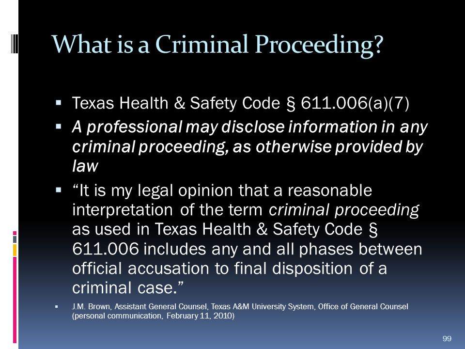 What is a Criminal Proceeding