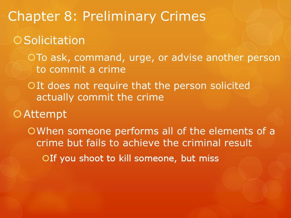 Chapter 8: Preliminary Crimes