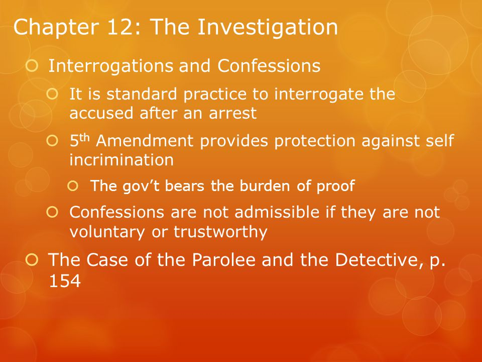 Chapter 12: The Investigation