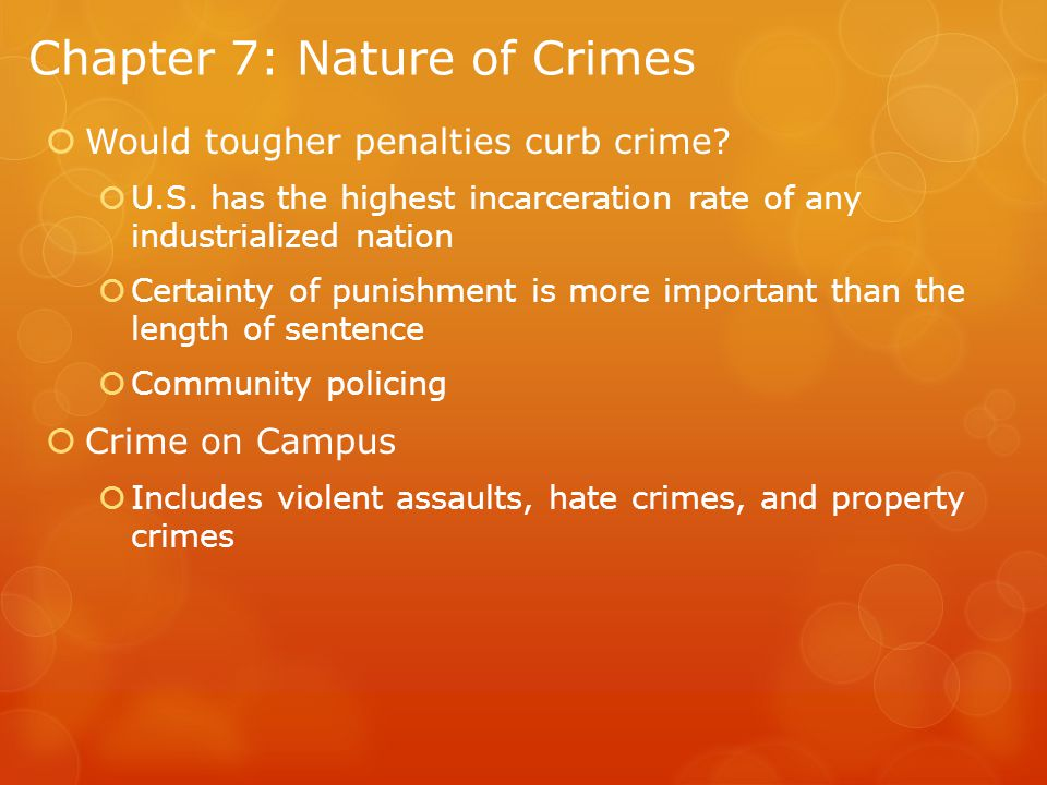 Chapter 7: Nature of Crimes