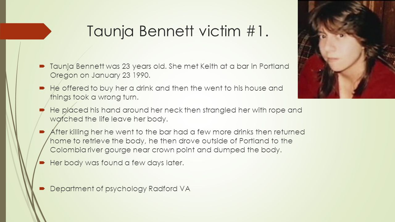 Taunja Bennett victim #1.