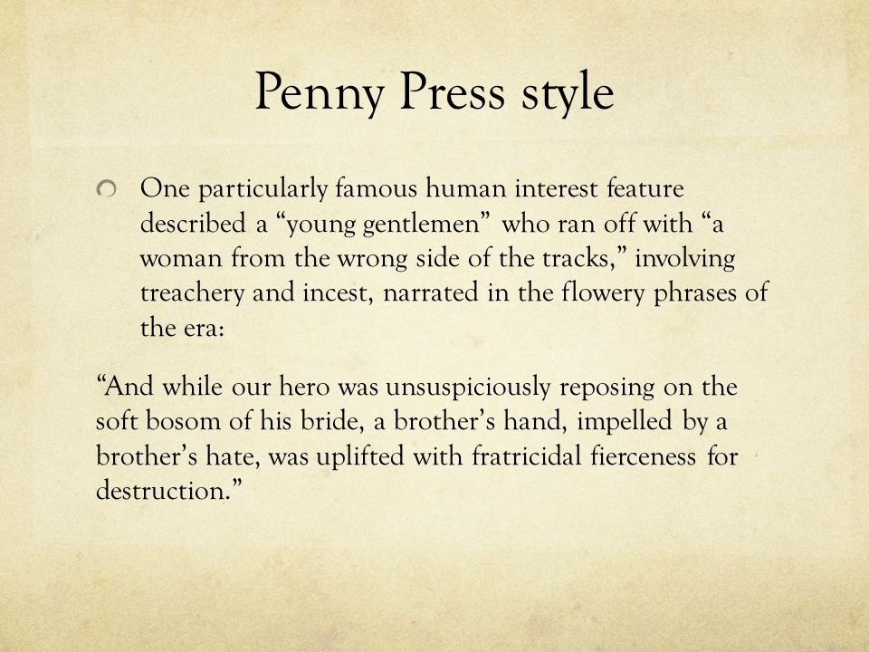Penny Press style