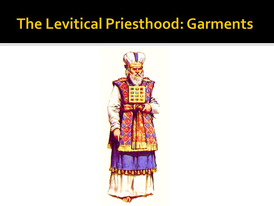 The Levitical Priesthood: Garments