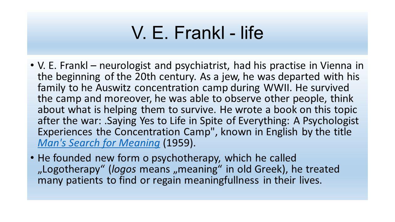 V. E. Frankl - life