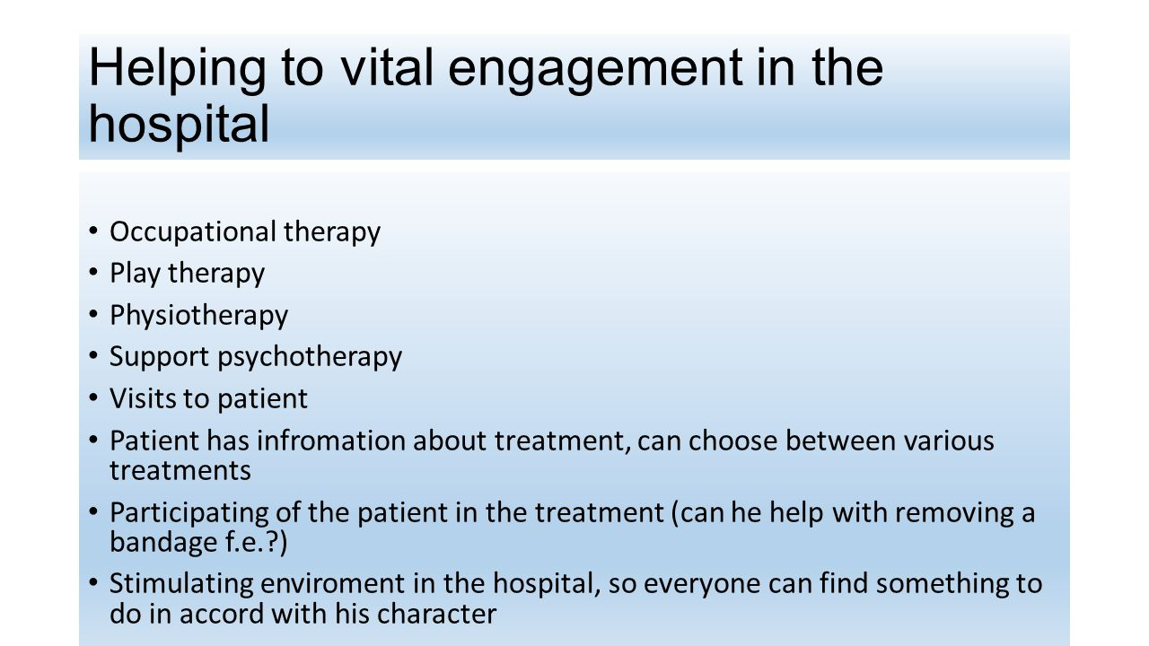 Helping to vital engagement in the hospital