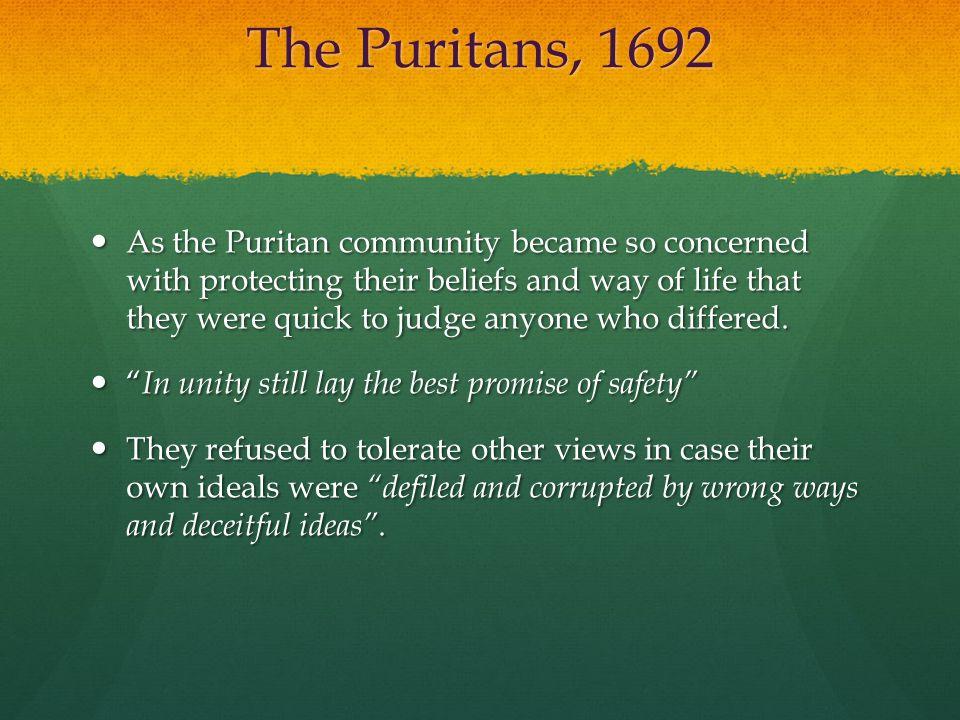 The Puritans, 1692