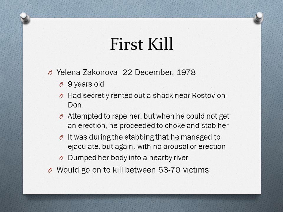 First Kill Yelena Zakonova- 22 December, 1978