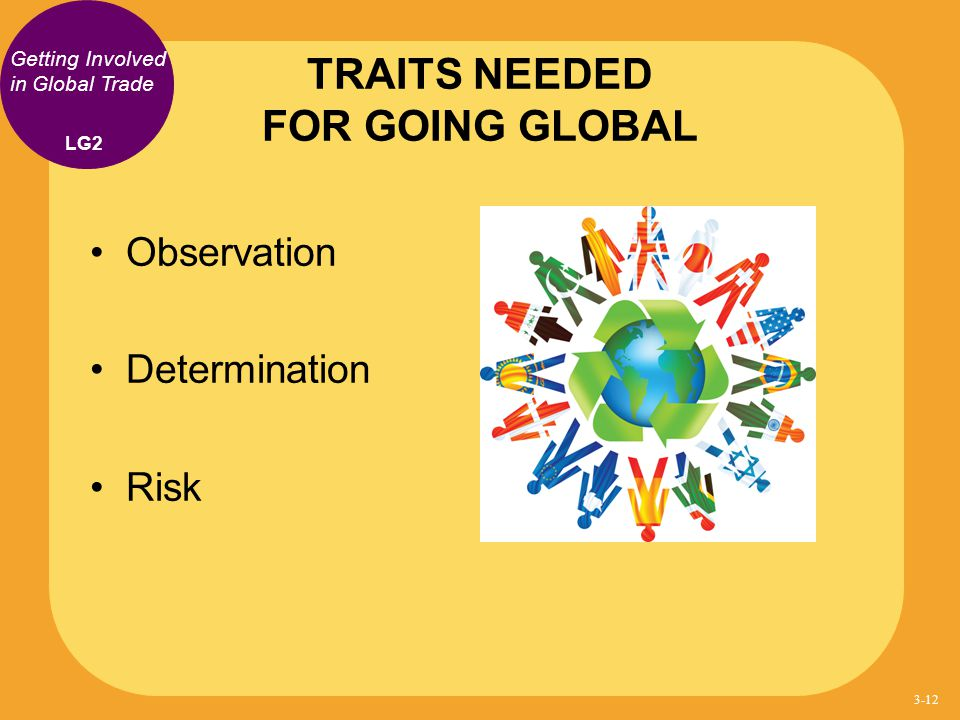 TRAITS NEEDED FOR GOING GLOBAL