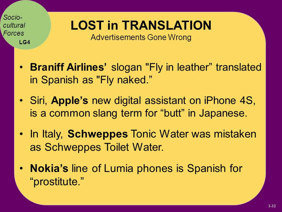 LOST in TRANSLATION Advertisements Gone Wrong