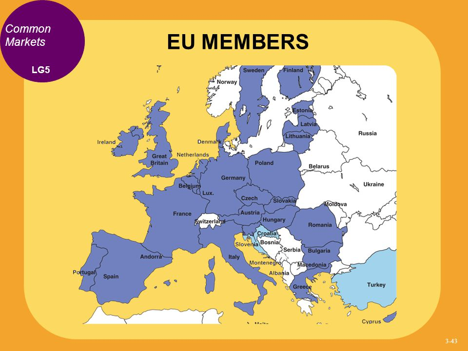 EU MEMBERS Common Markets LG5