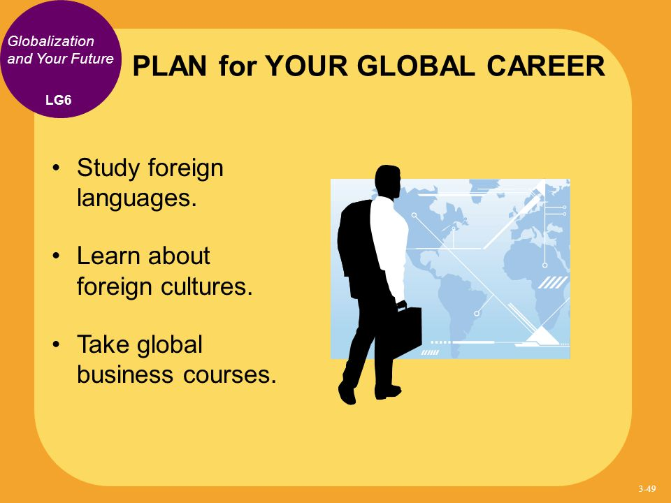 PLAN for YOUR GLOBAL CAREER