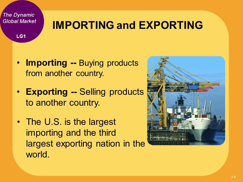 IMPORTING and EXPORTING