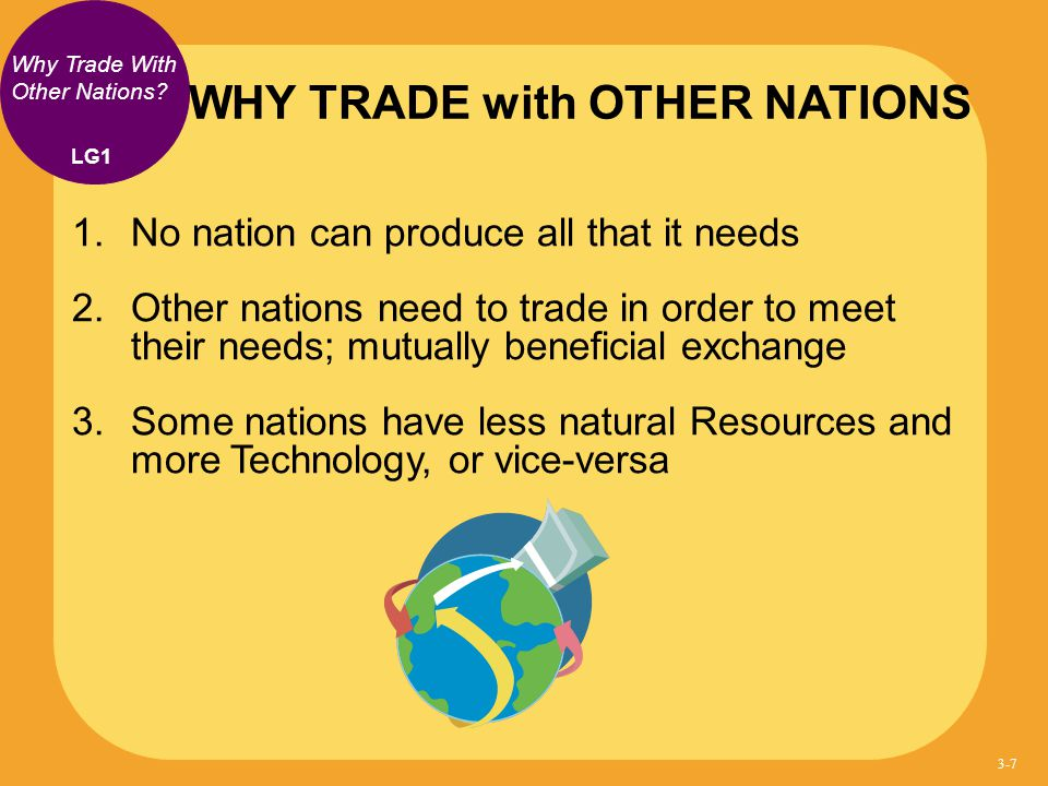 WHY TRADE with OTHER NATIONS