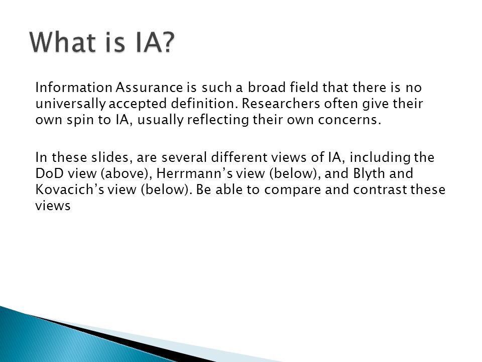 What is IA