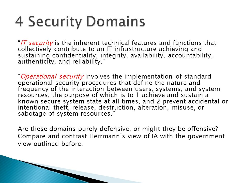 4 Security Domains