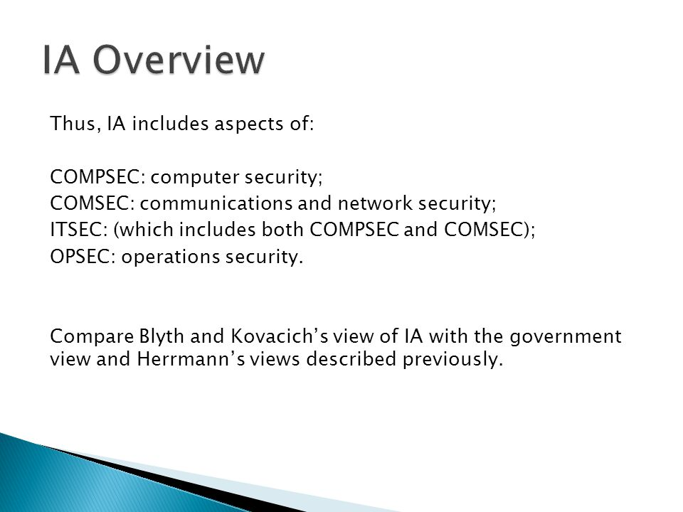 IA Overview