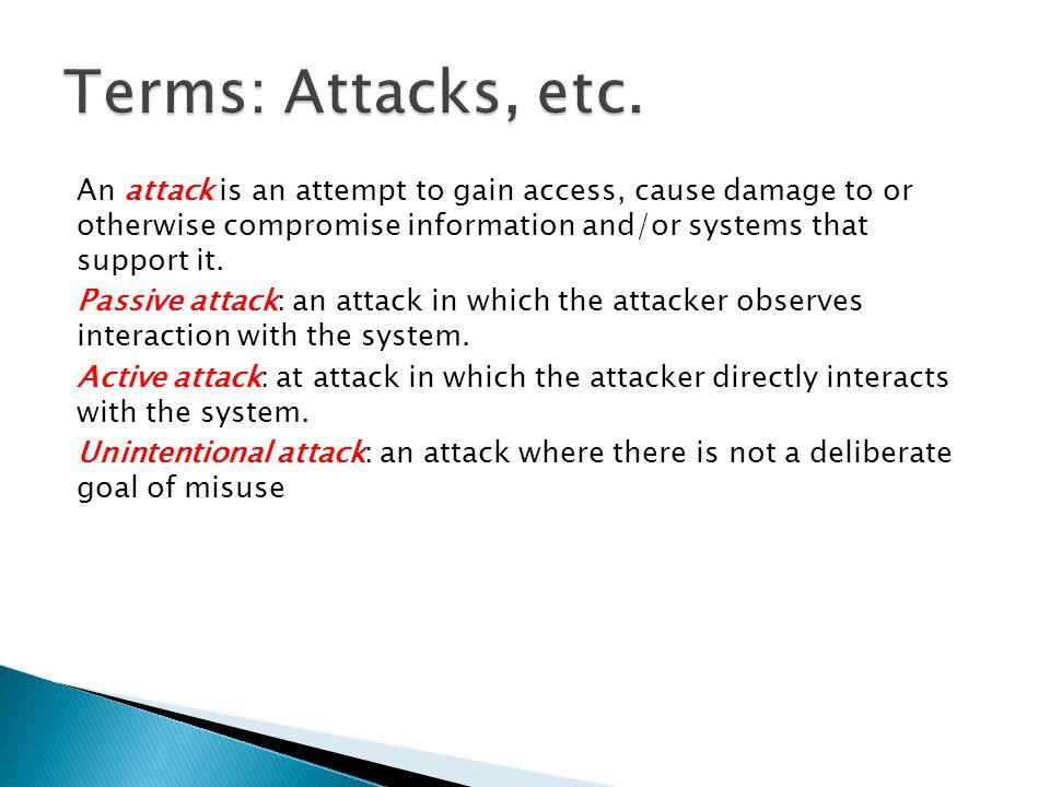 Terms: Attacks, etc.