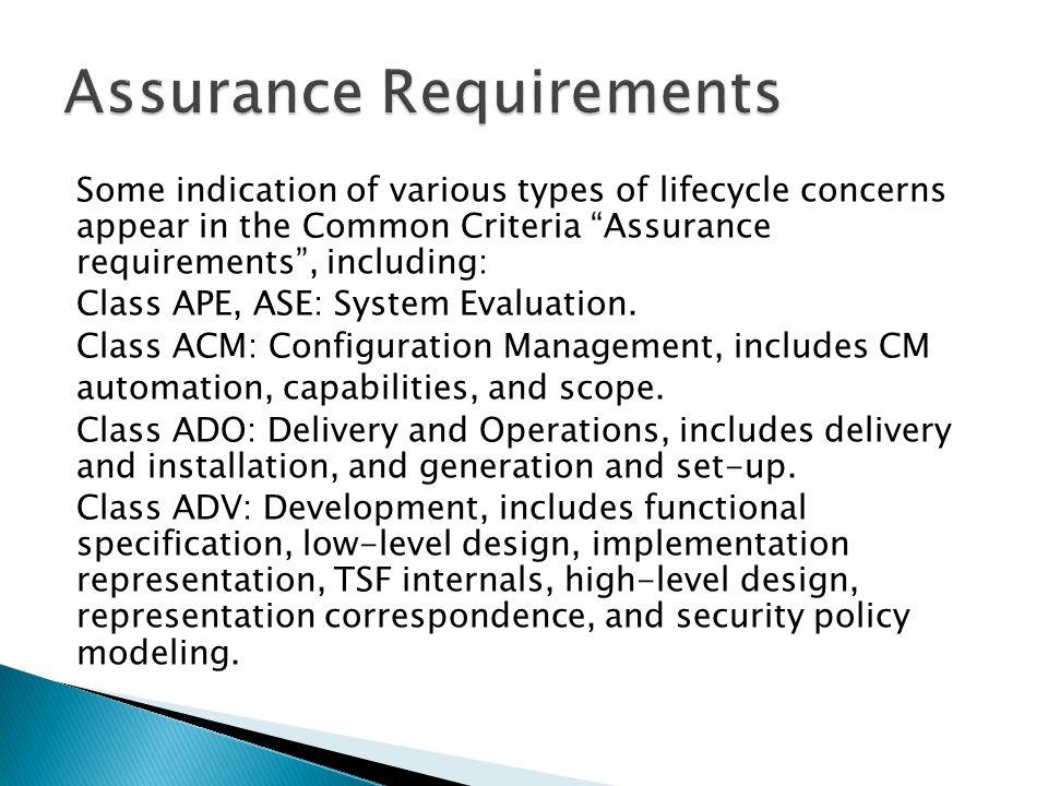 Assurance Requirements
