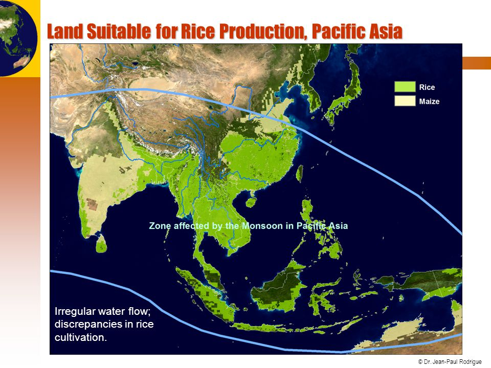 Land Suitable for Rice Production, Pacific Asia