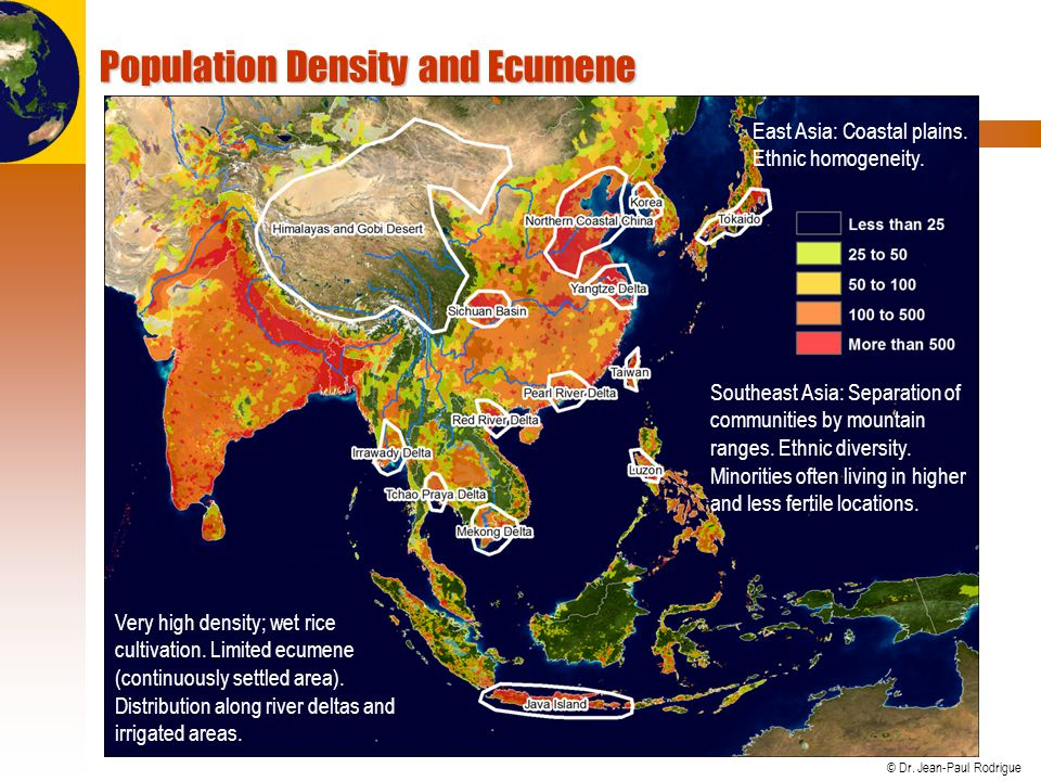 Population Density and Ecumene