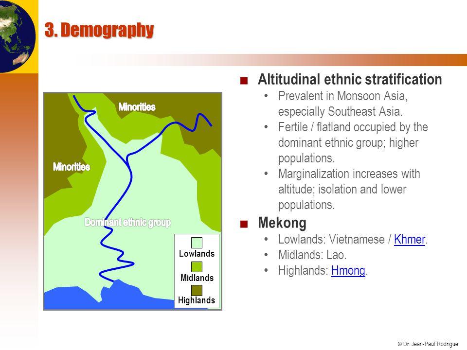 3. Demography Altitudinal ethnic stratification Mekong