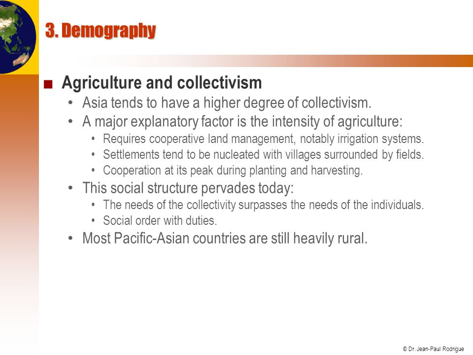 Agriculture and collectivism