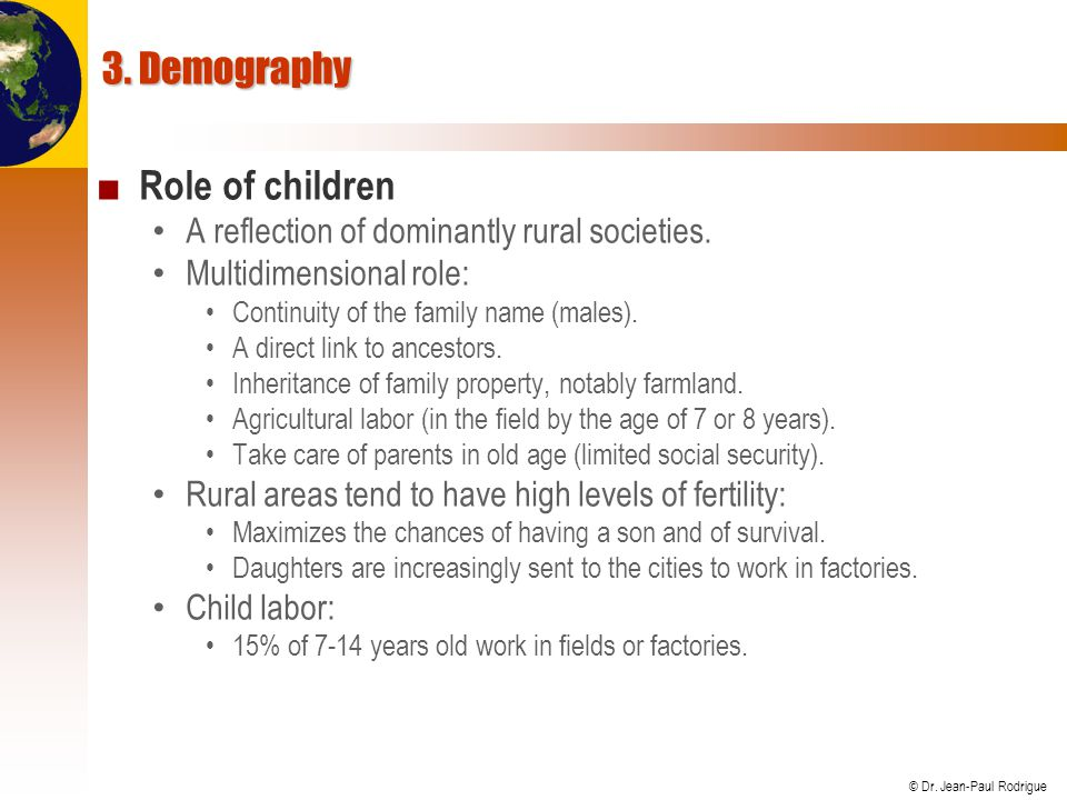 3. Demography Role of children