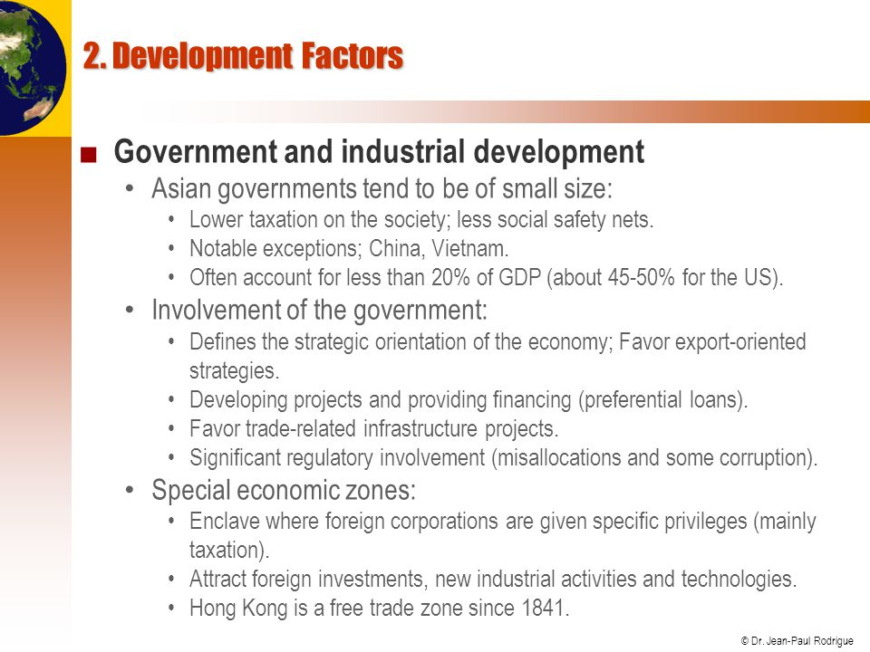 Government and industrial development