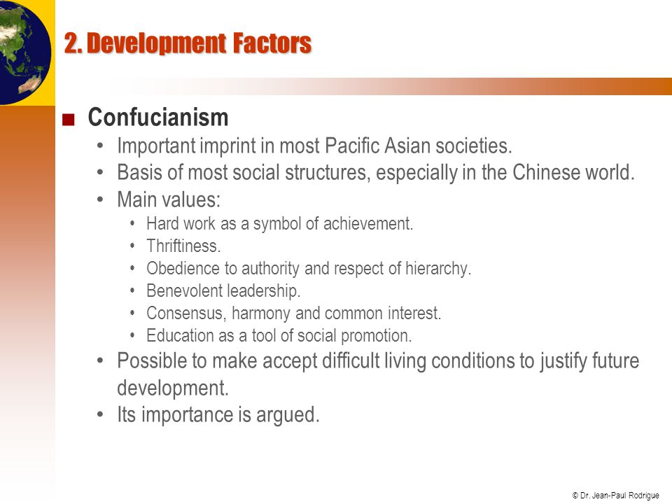 2. Development Factors Confucianism