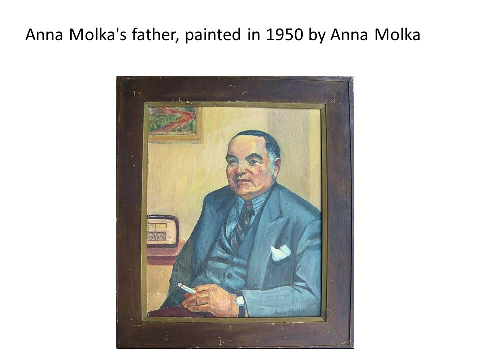 Anna Molka s father, painted in 1950 by Anna Molka