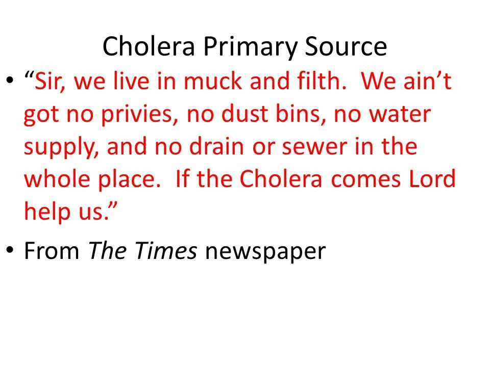 Cholera Primary Source