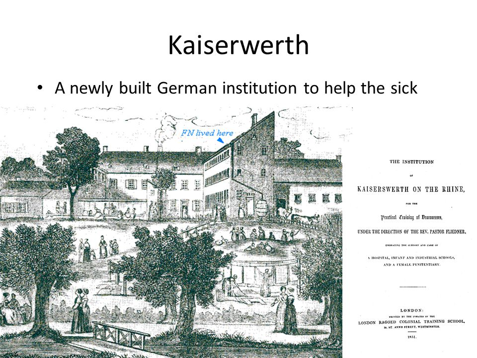 Kaiserwerth A newly built German institution to help the sick