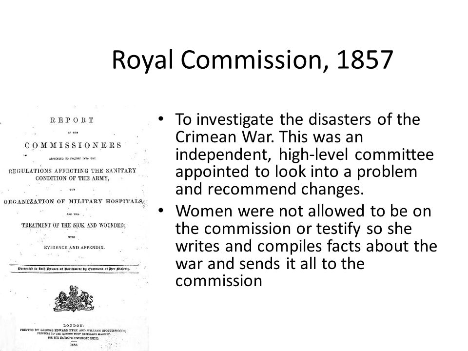 Royal Commission, 1857