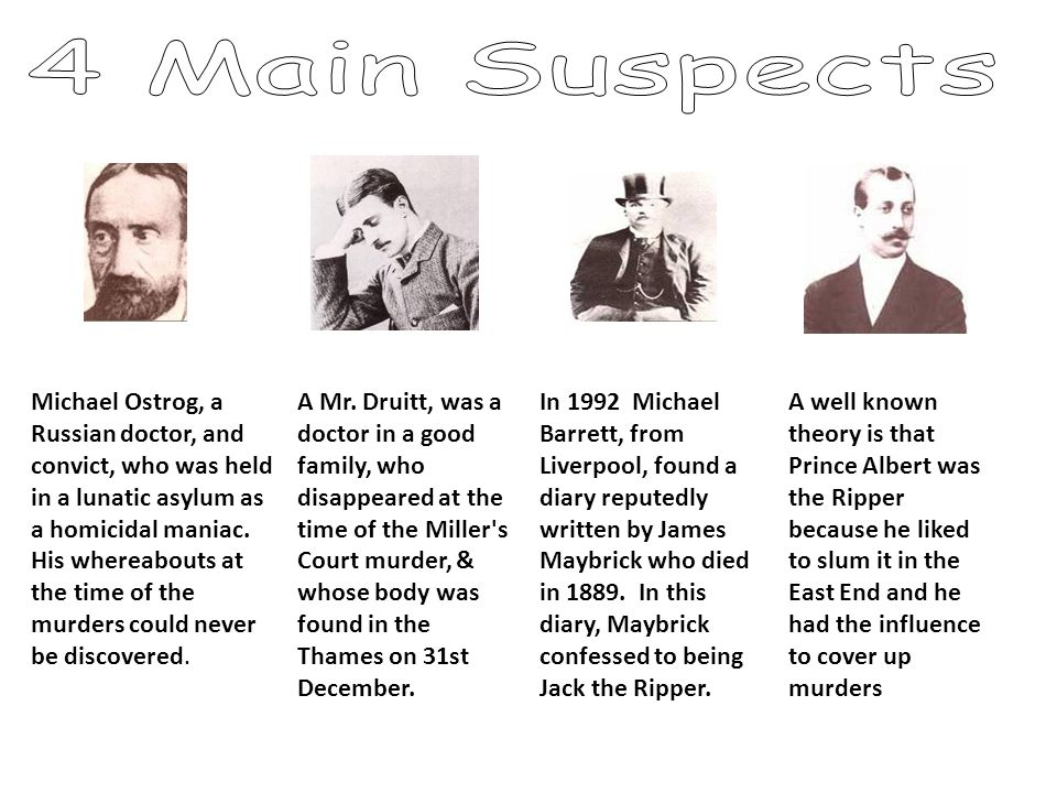 4 Main Suspects