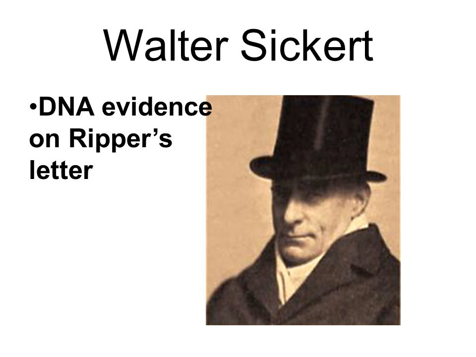 Walter Sickert DNA evidence on Ripper's letter