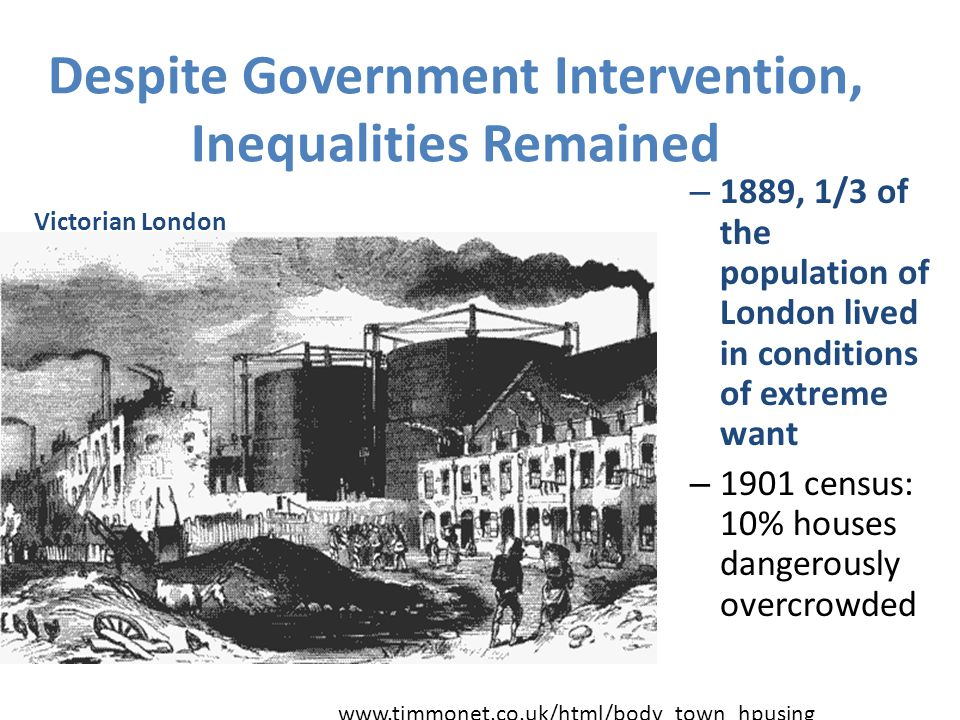 Despite Government Intervention, Inequalities Remained