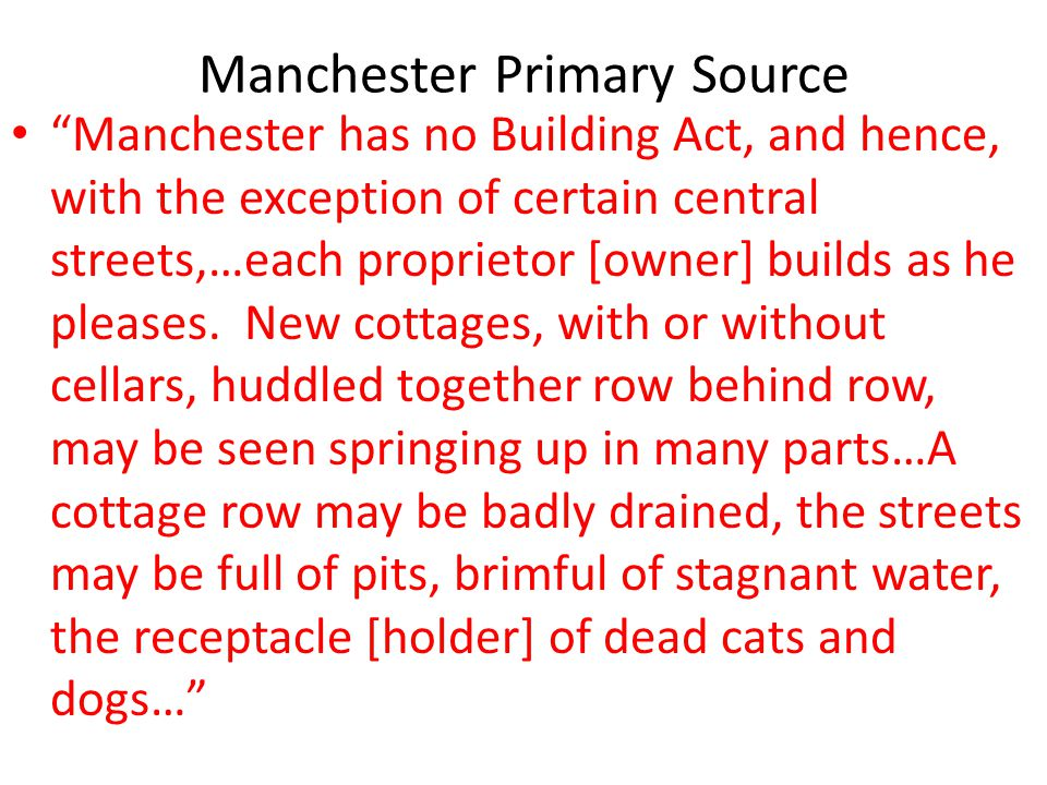 Manchester Primary Source