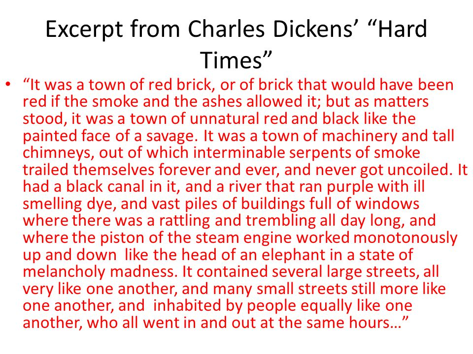 Excerpt from Charles Dickens' Hard Times