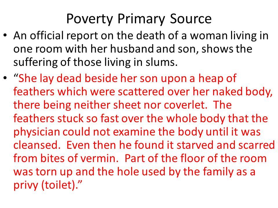 Poverty Primary Source