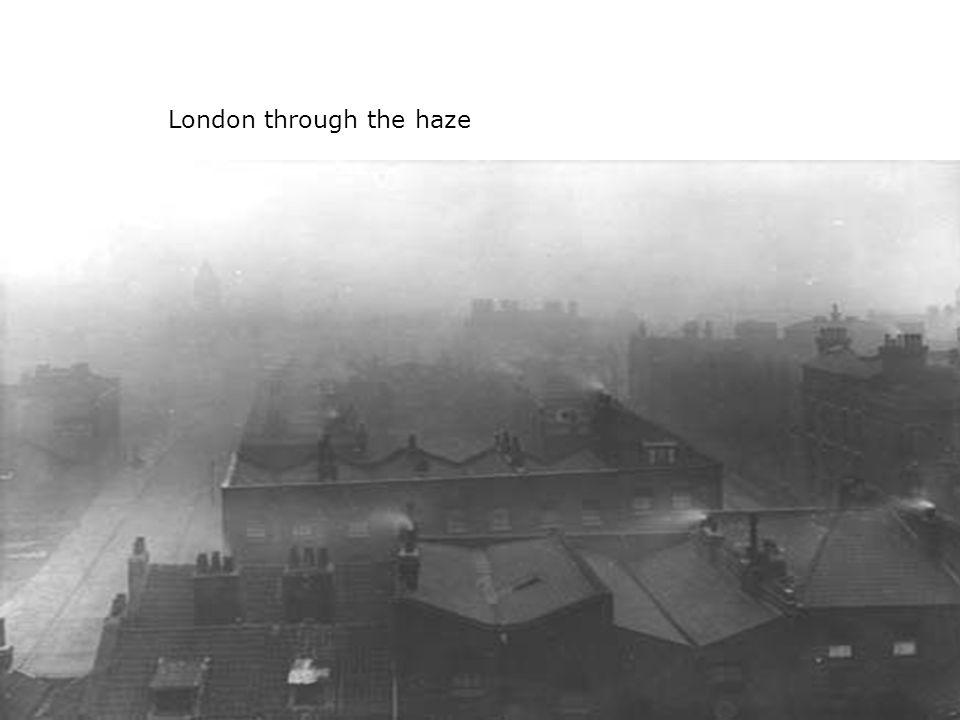 London through the haze